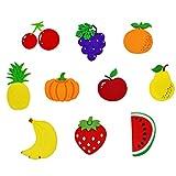 Vosarea - Lote de 10 imanes de frutas creativos en forma de imán para nevera, diseño de dibujos animados
