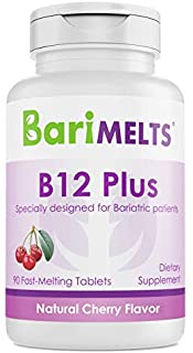 Sponsored Ad - BariMelts B12 Plus, Dissolvable Bariatric Vitamins, Natural Cherry Flavor, 90 Fast Melting Tablets
