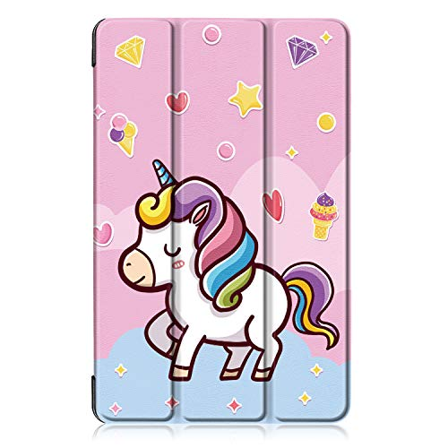Xuanbeier Funda Carcasa Compatible con Samsung Galaxy Tab A 10.1 Pulgadas SM - T510 T515 2019 Versión Ultra Delgada con Función de Soporte (Z-Unicornio)