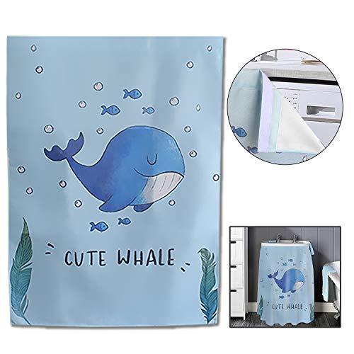 Mr.You Badezimmer-Vorhang, Röcke, Vorhänge für Schuhschrank, Waschmaschine, Bücherregal, wasserdichte Sonnenschutz-Abdeckung (Blauwale)