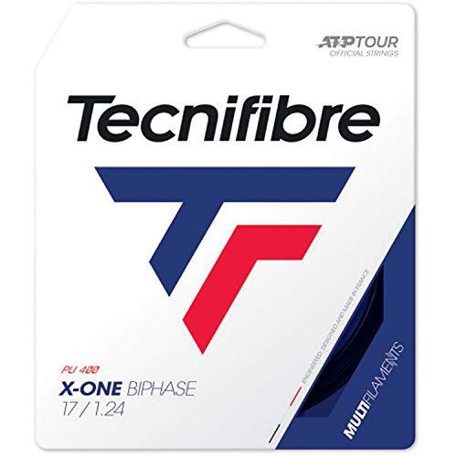 Tecnifibre Cordaje Tenis X-One BIPHASE 12 m Negro 1.24 mm