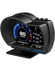 Newest Dual System Head Up Display OBD2 HUD GPS Digital Speedometer Tachometer Oil/Coolant Temp. Turbo Boost