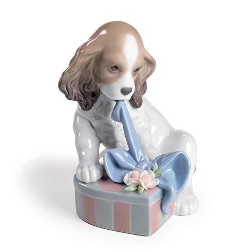 LLADRÓ Can't Wait Dog Figurine. Porcelain Dog Figure.