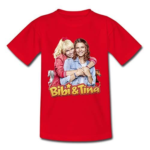 Spreadshirt Bibi & Tina Die Serie Freundinnen Kinder T-Shirt, 110-116, Rot