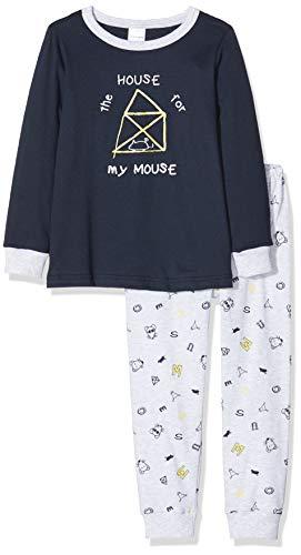Schiesser Jungen Kn Lang Zweiteiliger Schlafanzug, Blau (Nachtblau 804), 140