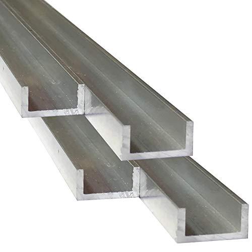 Alu U-Profil 10 x 20 x 10 x 2,0 mm Aluminium AlMgSi0,5 U-Stab Profil Aluprofil U-Stange (200 cm)