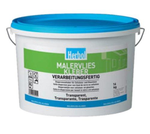 Herbol Fertigkleber Malervlies Renoviervlies Kleber 16kg, transparent