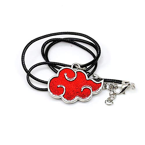 Multiculture Naruto Halskette mit Akatsuki Symbol Rot Wolken Itachi Uchiha Anime Cosplay