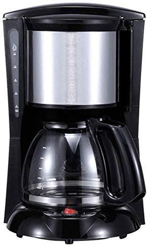 KaiKai Kaffeevollautomat, einschließlich Glas Kaffeekanne, Haushalt Tropf Typ Kleine Mini Kaffeemaschine, Warmhalten Anti-Drip-Design Abnehmbarer Filter for Office Home, Schwarz (Farbe: rot)