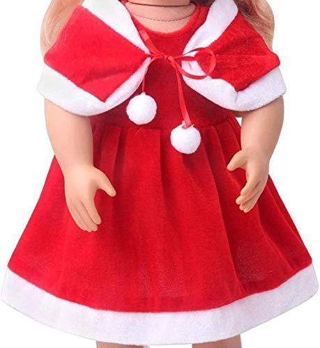 XinYiC Ropa para muñecas de 45,72 cm, diseño de Papá Noel