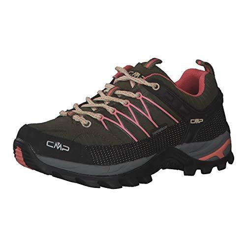 CMP Damen Trekking Schuhe Rigel Low 3Q54456 Khaki-Flamingo 36