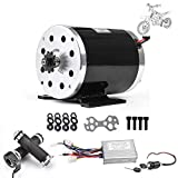 Kunray 48V 1000W Brushed DC Motor High Speed Electric Motor & DC Brush Controller & Gas Accelerator Throttle & Ignition Lock for Dirt Bike e-Bike ATV Go Kart Moped Mini Bikes Motorized Bicycle