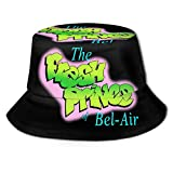 The Fresh Prince of Bel-Air Flat Top Breathable Bucket Hats Unisex Bucket Hat Summer Printing Fisherman's Hat Black