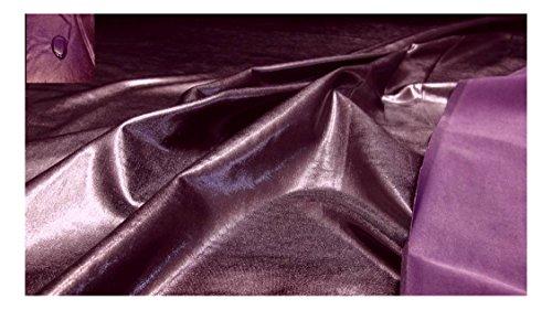 Fabrics-City % WEINROT BI-ELASTISCH GLANZJERSEY WASSERABWEISEND STOFF STOFFE, 2970