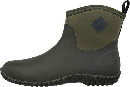 Muckster ll Ankle-Height Men's Rubber Garden Boots,Moss/Green,12 M US