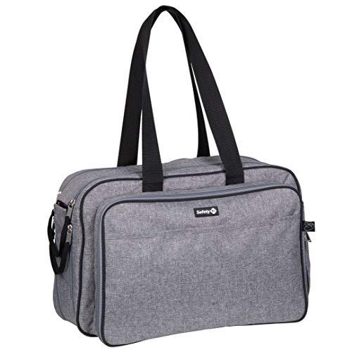 Safety 1st 1648666000 Nap to go, 2in1 Wickeltasche und Mini Reisebett in einem, inkl. passender Matratze und Tragegriffe, 9 verschiedene Fächer, Black/Grey, schwarz, 1.418 kg