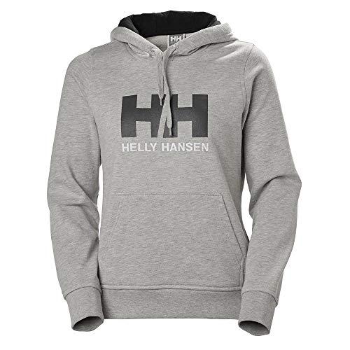 Helly Hansen W HH Logo Hoodie Hoodie, Mujer, Grey Melange, S
