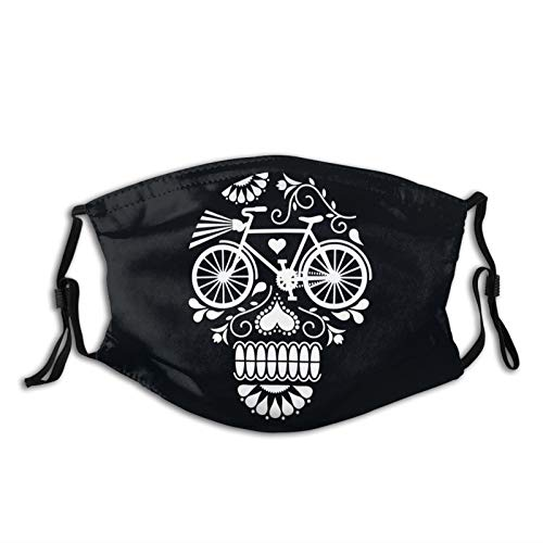 Adult Dust Mask Crazy Cranium Bicycle Men Women Customized Adjustable Earloop, Washable And Reusable Protective Face Cover 5 Pcs