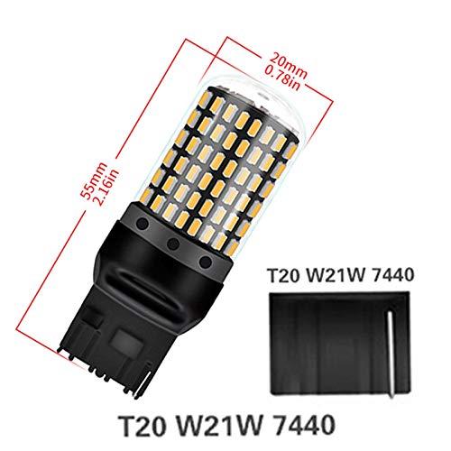 GCS Gcsheng 1pcs 2800lm 7440 7443 Bulbo Sin Error Free T20 W21W W21 / 5W LED WY21W LED Bombillas Freno de automóvil Lámpara de luz de la luz de la lámpara de Giro