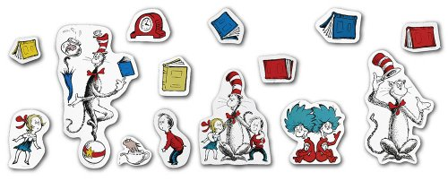 Eureka Dr. Seuss The Cat in the Hat Large Bulletin Board Set and Classroom Decorations for Teachers, 15 pcs