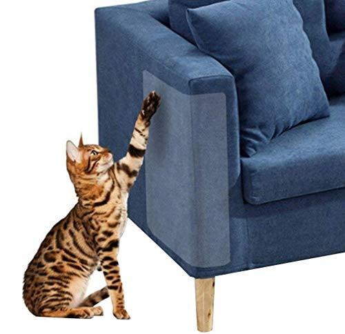 4 Piezas de protección contra rayones para Gatos, Protector de arañazos para Gatos, Flexible y Transparente, sin Pernos, Muebles de protección de rasguños para Gatos, 18,5 x 9,1'