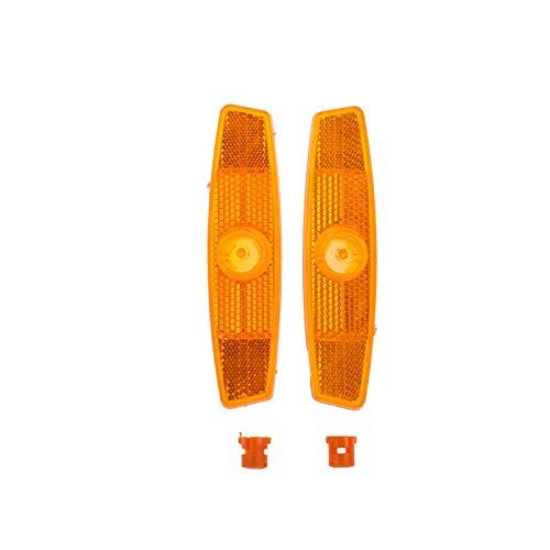 2 unids Amarillo/Blanco Bike Spotes Strips Reflectantes Reflectores de Bicicleta Luces de Advertencia de Bicicleta Suministros de Luces de Radio (Color : Yellow)