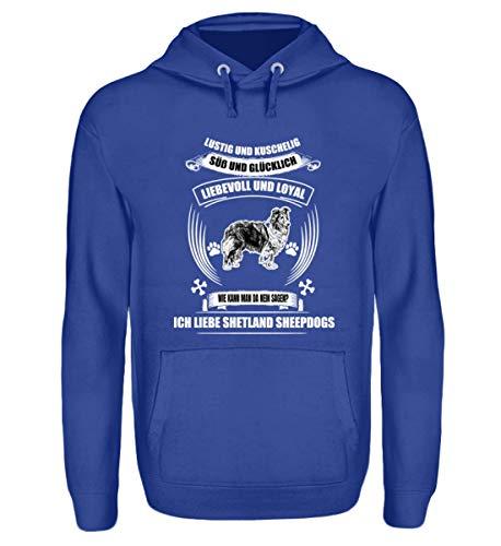 Shirtee Shetland Sheepdog T, Hoodie u.A - Unisex Kapuzenpullover Hoodie