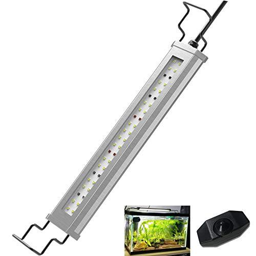 Lominie LED Aquarium Light, Süßwassergepflanzte Tankleuchte Hochhelle Fischlampe für Refugium Algen Nano Tank mit Hang Kits (Bar15H Frischeswasser)