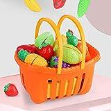 Shhjjyp Alimentos De Juguete Corte De Frutas Y Alimentos Falsos Cortar Frutas Verduras Bebé NiñOs Juegos para Cocinar Temprano Desarrollo EducacióN Juegos para NiñOs,35 pcs