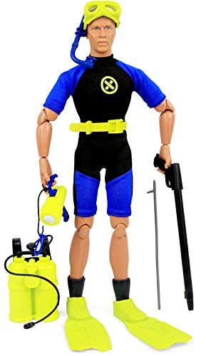 Click N' Play Sports & Adventure Diver Action Figure Play Set with Accessories