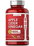Apple Cider Vinegar 1800mg | 120 Vegan Capsules | High Strength | Non-GMO, Gluten Free Supplement