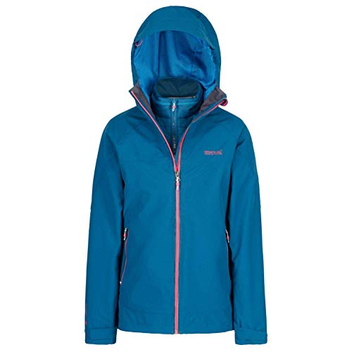 Regatta Damen Wentwood III 3 in 1 Waterproof and Breathable with Zip-Out Fleece Jacke, Marokkoblau, 44