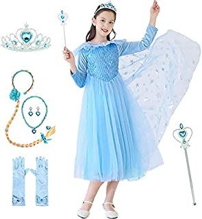 Moonmen Baby Princess Dress for Girls with Accessories, Party Girl Dresses Queen Costumes Cosplay Tutu Clothing Set