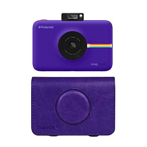 SUNYOY PU Leder Tasche für Polaroid Snap Touch Sofortbild Kamera (Veilchen)