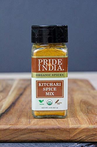 Pride Of India - Organic Kitchari Spice Seasoning - 1.70oz (48.1gm) Dual Sift Jar - Make Perfect Rice Lentil Pilaf w/ No Prep (7 Vegan Spices)
