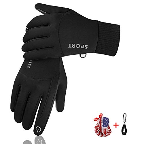 Winter Gloves for Men Women, Touchscreen Cold Weather Thin Warm Gloves Windproof Anti-Slip goves for Cycling Running ,Hiking ,Climbing (Medium)