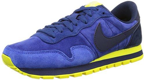 Nike Herren Air Pegasus 83 Leather Sneakers, Blau (Mid NVY/Mid NVY-Lt Vltg YLW I 407), 42 EU