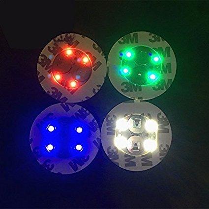 Led Bouteille Stickers 4 lumières éclairage de dessous de bouteille pour boire – 10 pcs/lot, rgb, 4 Lights