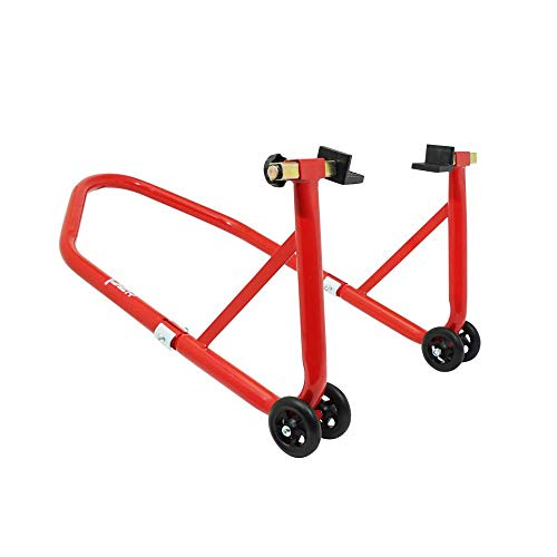 Leve-bequille Moto Stand p2r Arriere Universel Acier Rouge