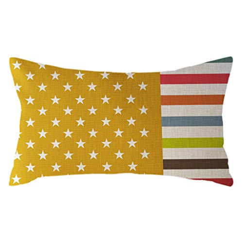 jieGorge Minimalist National Flag Pillow Case Linen 30x50cm Cushion Cover Home Decor, Home Decor Sales,for Halloween Day (B)