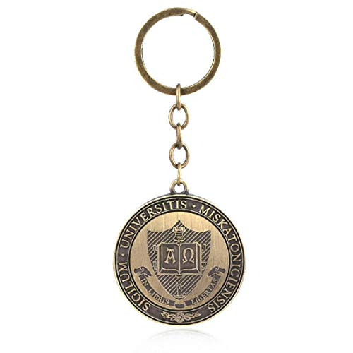 ArtkticaSupply Call of Cthulhu movie/game/series inspired - Cthulhu Mythos Hastur Miskatonic University Sign Keychain/key-ring Accessory for keys, bag, zip tie, wallet. Call of Cthulhu Keychain/Key-ring/Key Accessory