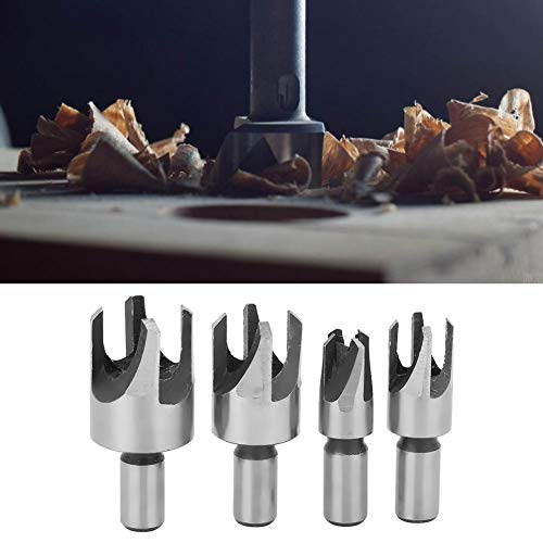 Carbon Steel Bit, Cork Drill Bit Carbon Steel Claw-Type Woodworking Tool Hardware Accessory for Roundwood (4PCs)