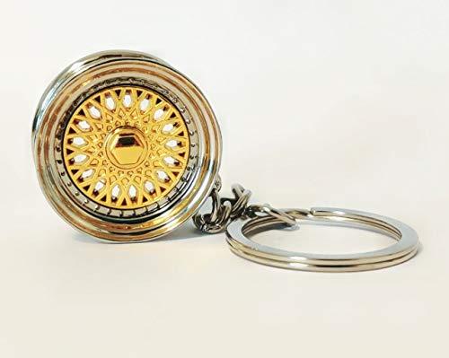 Decus BBS Style Felge Gold Schlüsselanhänger Metall massiv
