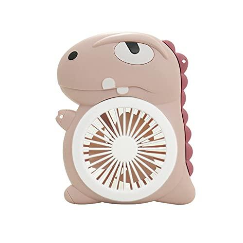 wangYUEQ Mini Portatile, Ventilatore Elettrico, Portatile, USB Ventilatore Elettrico 300mAh Cartone Animato Ricaricabile Compatto Studente e Bambini Mini Mini Muto GUIDATO Fan di Illuminazione - Rosa