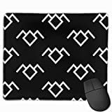 Mousepad Twin Peaks Owl Petroglyph Non-Slip Rubber Stitched Edges Rectangle Gaming Mouse Mat for Office & Home Pc Laptop