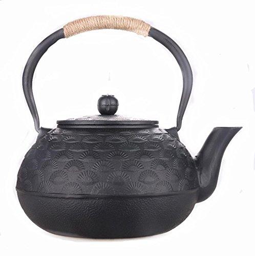 zb-tiehu Japanische Gusseisen-Topf Kiefer-Nadel-Art-Hand ohne Beschichtung mit Einem schwarzen Netz Gekochte Tea 2L
