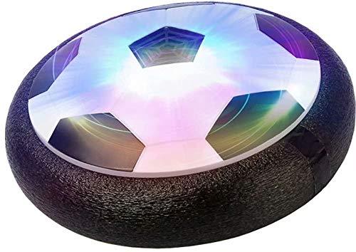 Big Bargain Store Schwebefußball Mädchen- und Jungenspielzeug Innen- und Außen- für 3, 4,5,6,7,8-16 Jahre LED-Lichter Air Bower-Trainingsball Black 18 * 18 * 7cm