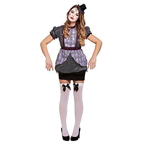 Fancy Me Damen Gebbrochen Puppe Puppe Gejagter Marionette Halloween Horror Unheimlich Kostüm Kleid Outfit 8-10-12