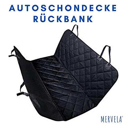 MERVELA Autoschondecke/Hundedecke für Auto Rückbank/Dog car seat Blanket/grau 145 x 145 cm