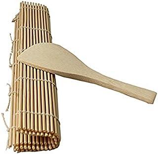 TOOGOO Delicioso fabricante de rollos de sushi Esterilla de bambu para Rollo Material de la carcasa + Paleta de Arroz